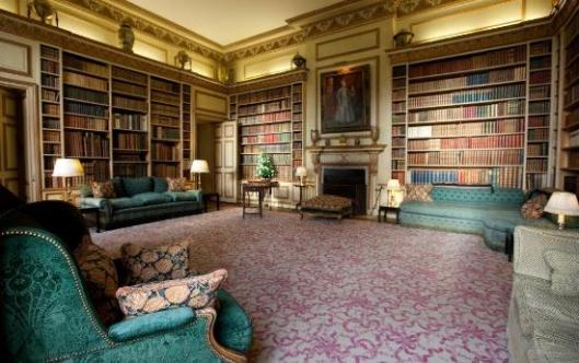 Castle library in Leeds, county Kent
