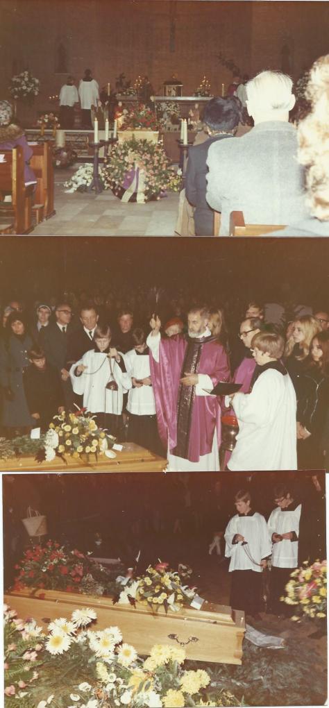 Foto's van uitvaartplechtigheid Godfried Bomans, 24 december 1971.