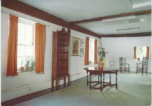 Dr. Johnson's House, Gough Square, London. The room in which the dictionary was compiled.