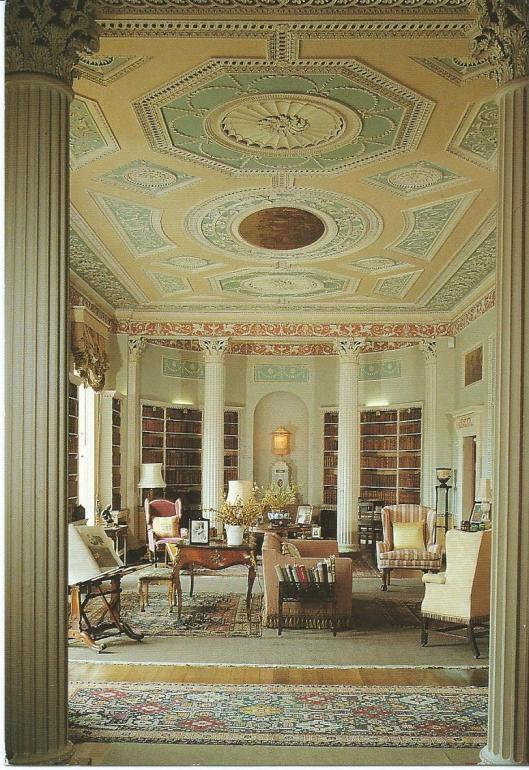Newly Hall & Gardens, the library, Ripon, N.Yorkshire.