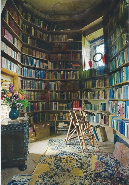 Sissinghurst Castle Garden in county Kent. The alcove off the writing room/library in the Elizabethan tower.