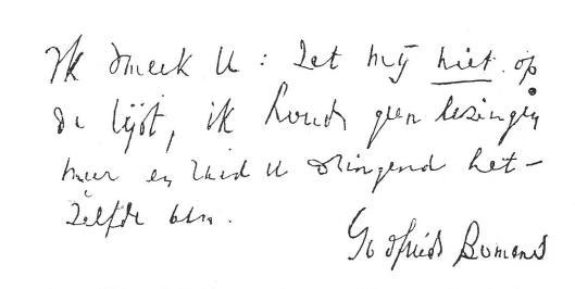 Teveel gevraagd ging Bomans na 1960 steeds minder voordrachten of lezingen te geven. Aan de voorzitter van 't Nut (tevens zijn vriend)dr.P.H.Schröder verzocht hij in 1964 zijn naam niet op de de 'sprekerslijst' van de Maatschapppij tot Nut van 't Algemeen. op te nemen.