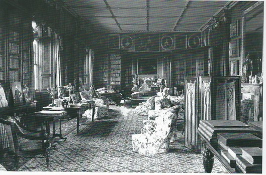 The library of Kilkenny castle at the end of the 19th century. (National Gallery of Ireland)