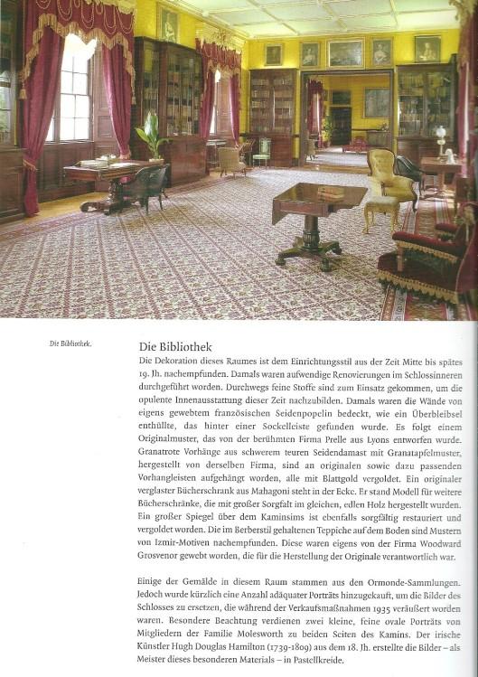 Page from the book: Das Schloss Kilkenny; Besucherführer, von Jane Fenlon. 2007