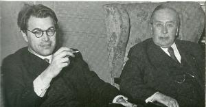Godfried Bomans op bezoek bij de door hem bewonderde Vlaamse letterkundige Willem Elsschot