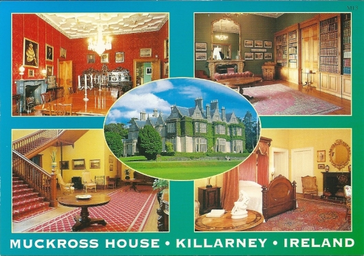 Muckross House in Killarney, county Kerry, including drawing room/library.