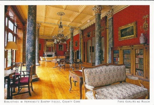 Library in Bantry House, County Cork