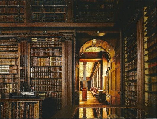 Intereur bibliotheek Hatfield House, 1833/1875 (James W.P.Campbell/Will Pryce)