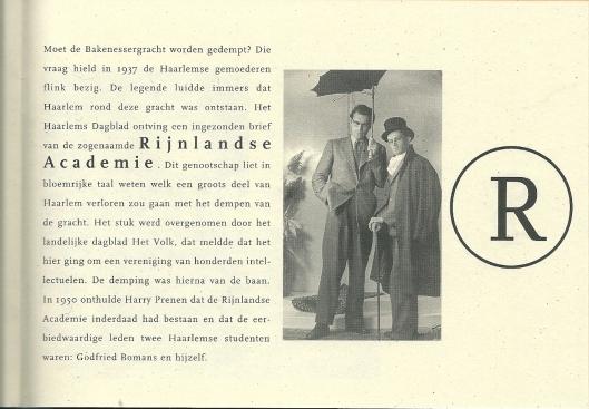 Bomans en Prenen. Uit: Houten Haarlemmers van A tot Z. Haarlem, 1995, door Eva Bomans & Anja Francissen
