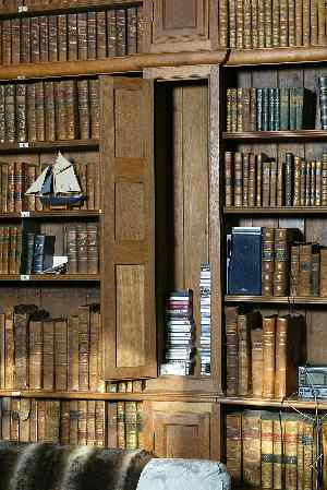 Part of Tissington Hall library