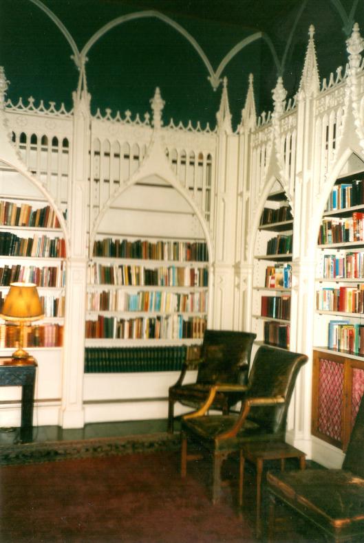 Foto van een deel van de Strawberry Hill bibliotheek
