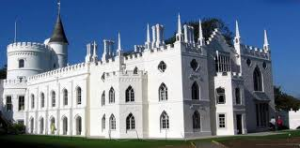 Gebouw van Strawberry Hill, Twickenham, Londen (borough of Richmond)