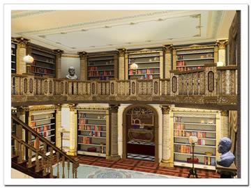 Waddesdon Manor library (Buckinghamshire). In 1879 gebouwd voor baron Ferdinand de Rothschild