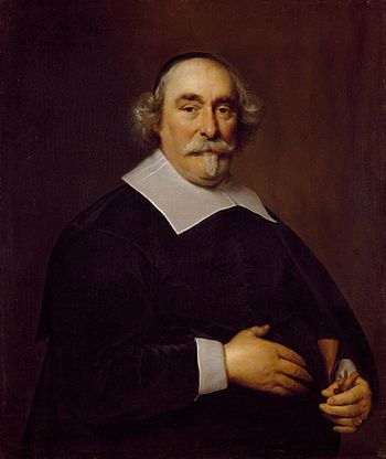 Regent, o.a. burgemeester van Amsterdam, Jan Corneliszoon Geelvinck (1579-1651), geschilderd door Cornelis Jonson van Ceulen (Amsterdam Museum).