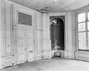 Interieur van de koepel uit 1969 kort voor de sloop in maart 1970