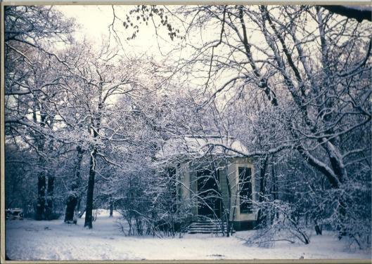 De koepel van Groenendaal nog in volle glorie in wintertooi