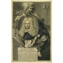 Lieve Geelvinck (1676-1743), in 1707 tot burgemeester van Amsterdam benoemd als opvolger van zijn vader. Gravure door Jacobus Houbraken