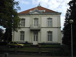 Het 19e eeuwse herenhuis Rozenberg in Deurne, tegenwoordig een gemeentelijk monument