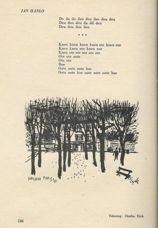 Vervolg van OOTE door Jan Hanlo in 'Roeping' en een illustratie van Charles Eyck