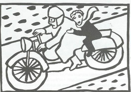 'Hanlo als motorduivel', omslag van Charlotte Mutsaers