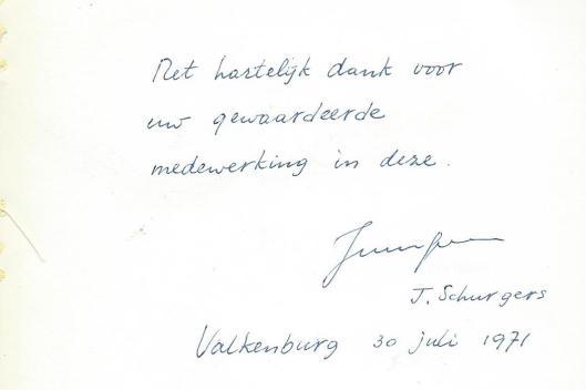 Opdracht van Jan M.G.Schurgers die in 1971 een beknopte biografie van Jan Hanlo publiceersde, uitgeven door Het Lasnd van Valkenburg en waarvan 3 drukken verschenen.