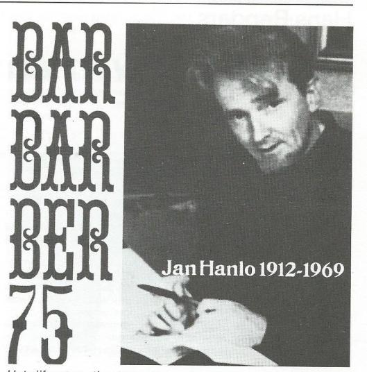 Het 75ste nummer van het tijdschrift Barbarbar kwam uit als een single en bevat teksten gemaakt en ingesproken door Jan Hanlo