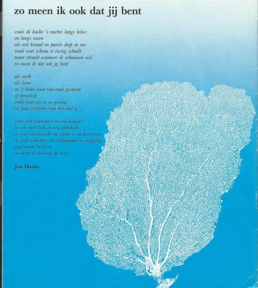Gedicht van Jan Hanlo: Zo meen ik dat ook jij bent.