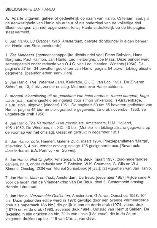 Bibliografie Hanlo (1)