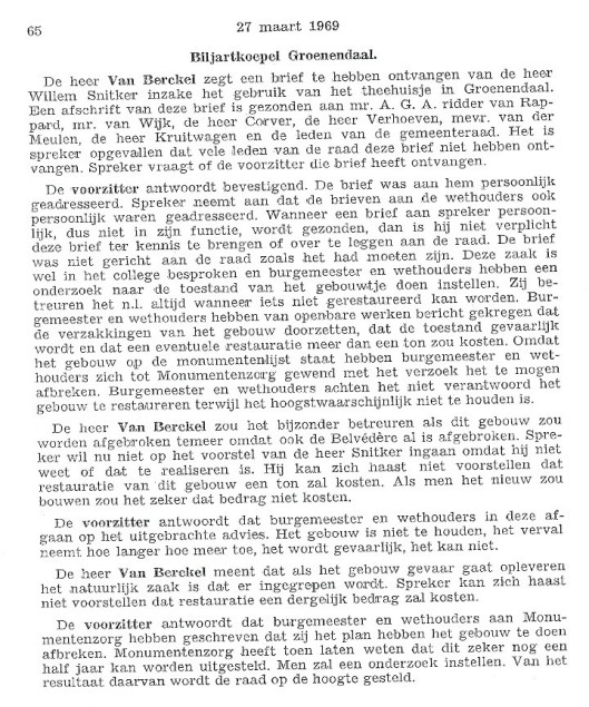 Raadsnotulen februari 1970