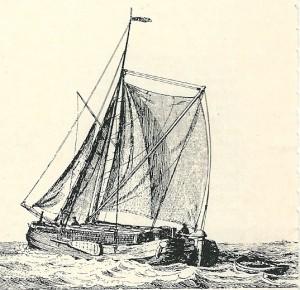 Turfschuit. Turf was een belangrijke brandstof in de 18e eeuw. Vanuit Friesland, Drenthe en Overijssel werd veel turf met tjalken naar Holland aangevoerd.