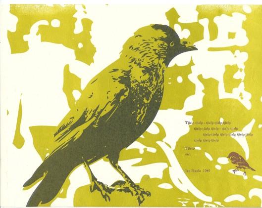 Door hans Dessens en Frank Turenhout voor bibliofiele uitgave 'Vogels van diverse pluimage' (2014)