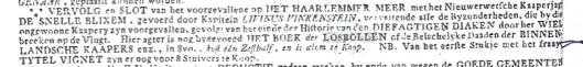 Advertentie uit Opregte Leydse Courant van 6 november 1782
