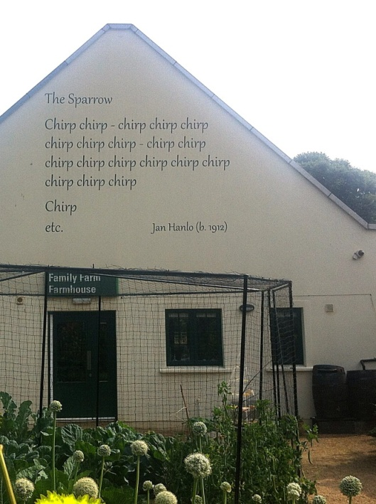 De Mus - The Sparrow Jan Hanlo op de gevel van een huis in Dublin, Ierland (Marlou)