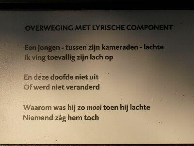 Van Jan Hanlo is nog een tweede gedicht opgenomen in de poëzietuin te Bredevoort