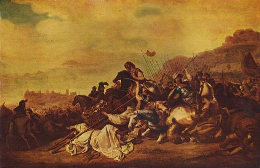 Gerrit Bleker: de slag van Ebenezer (1640), in: museum voor schone kunsten te Budapest