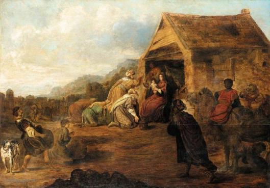Schilderij: aanbidding van de koningen door Gerrit Bleker