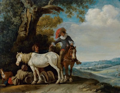 Gerrit Bleker: rustpunt onder een boom