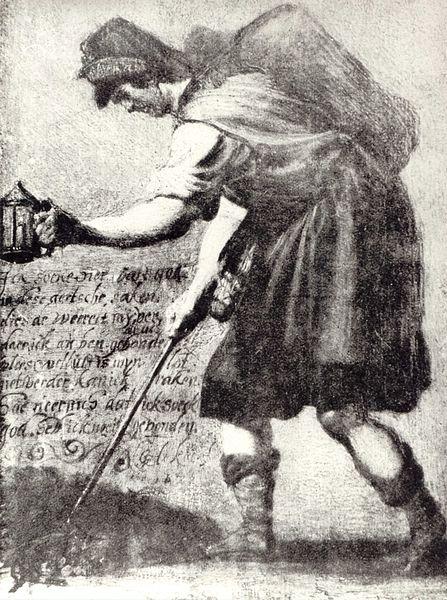 Diogenes met lantaren G.C.Bleker f.1637 (Pools Nationaal Bezit: Galerie Lazienski)