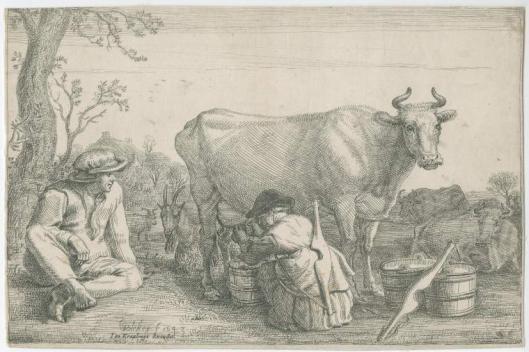 Gerrit Bleker: melkmeisje (1643)