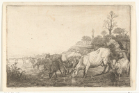 Gerrit Bleker: kudde bij een beek (1638) Rijksmuseum Amsterdam