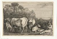 Fluitende koeherder (1638) door Gerrit Bleker (Rijksmuseum)