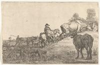 De voorttrekkende kudde vee; door Gerrit Bleker (Rijksmuseum)