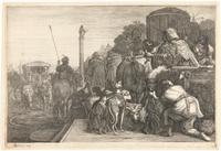 Paulus en Barnabas te Lystra; ets van Gerrit Bleker, 1638, Rijksmuseum