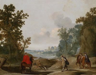 Landschap door Gerrit Bleker