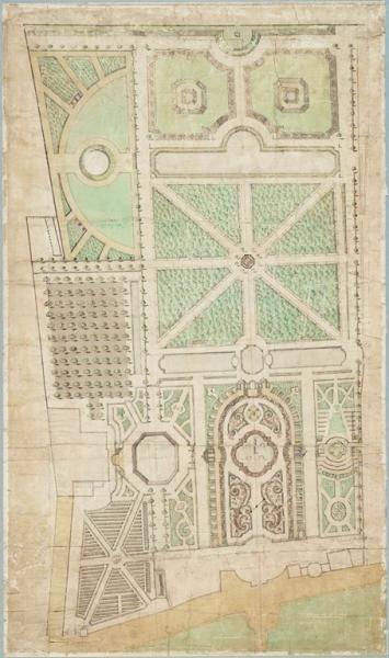 Ontwerp van Meer en Berg door Daniel Marot uit 1704 (Noord-Hollands Archief)