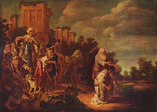 Philippus doopt een Moor. Paneel van Gerrit Bleker uit circa 1640. (In Christelijk Museum van Esztergom in Hongarije)
