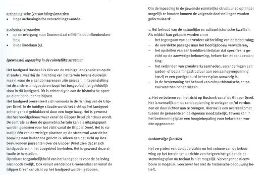 Bosbeek. Rapport SAB (2)
