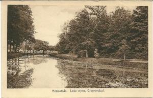 (Water)lelievijver Groenendaal met houten voetbrug