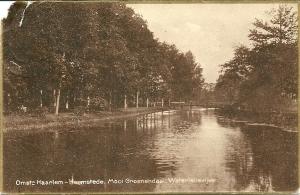 Waterlelievijver Groenendaal op een op 22 september 1924 vanuit Haarlem naar Den Haag verzonden ansicht