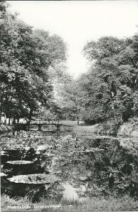 Waterlelievijver Groenendaal op een kaart uit circa 1955